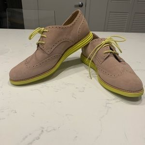 Cole Haan Tan and Yellow Lunargrand